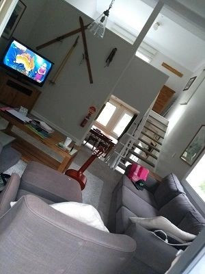 The living room in the three storey lodge