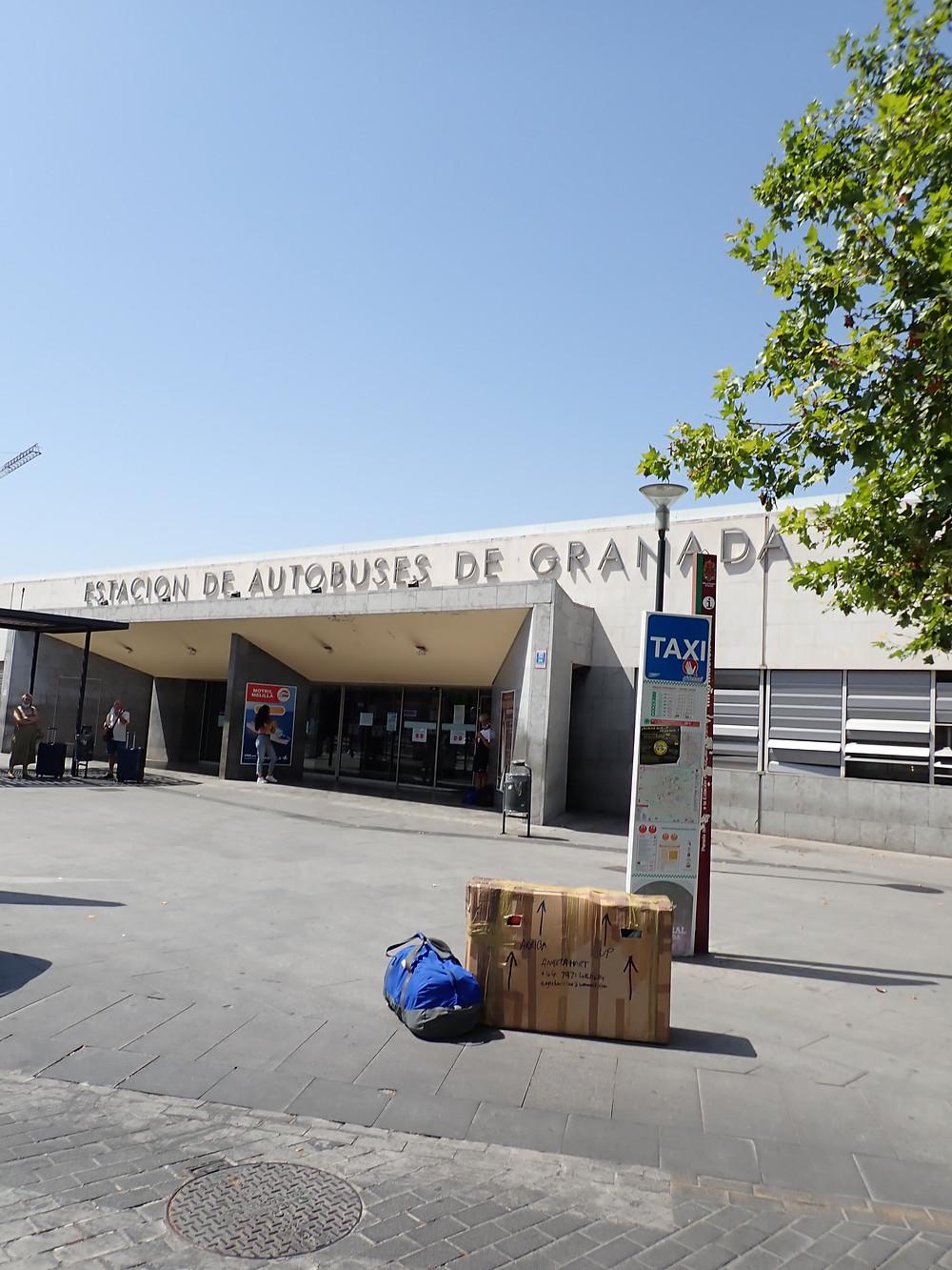 My luggage in Malaga bus station