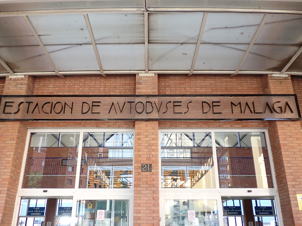 The doors of the Malaga bus station