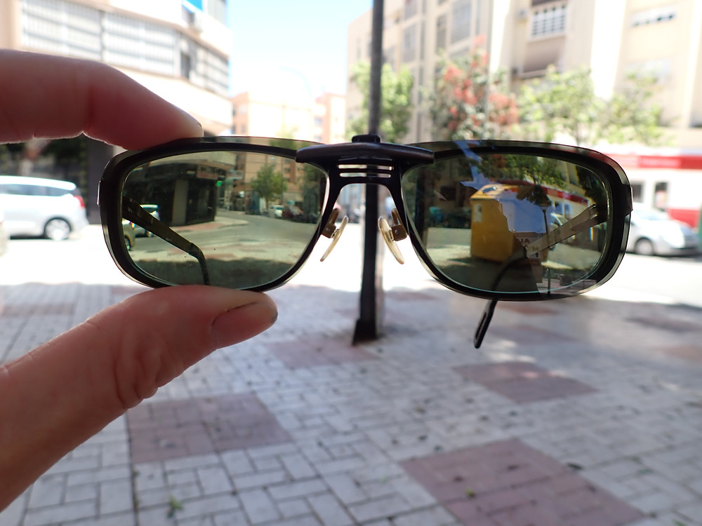 My glasses with my new clipon sunnies