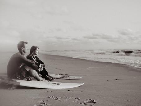 Séance couple Surf dans Les Landes, à Seignosse