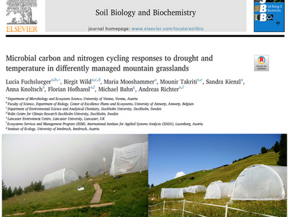 New article on drought and temperature effects on soil microbial C and N cycling in grasslands