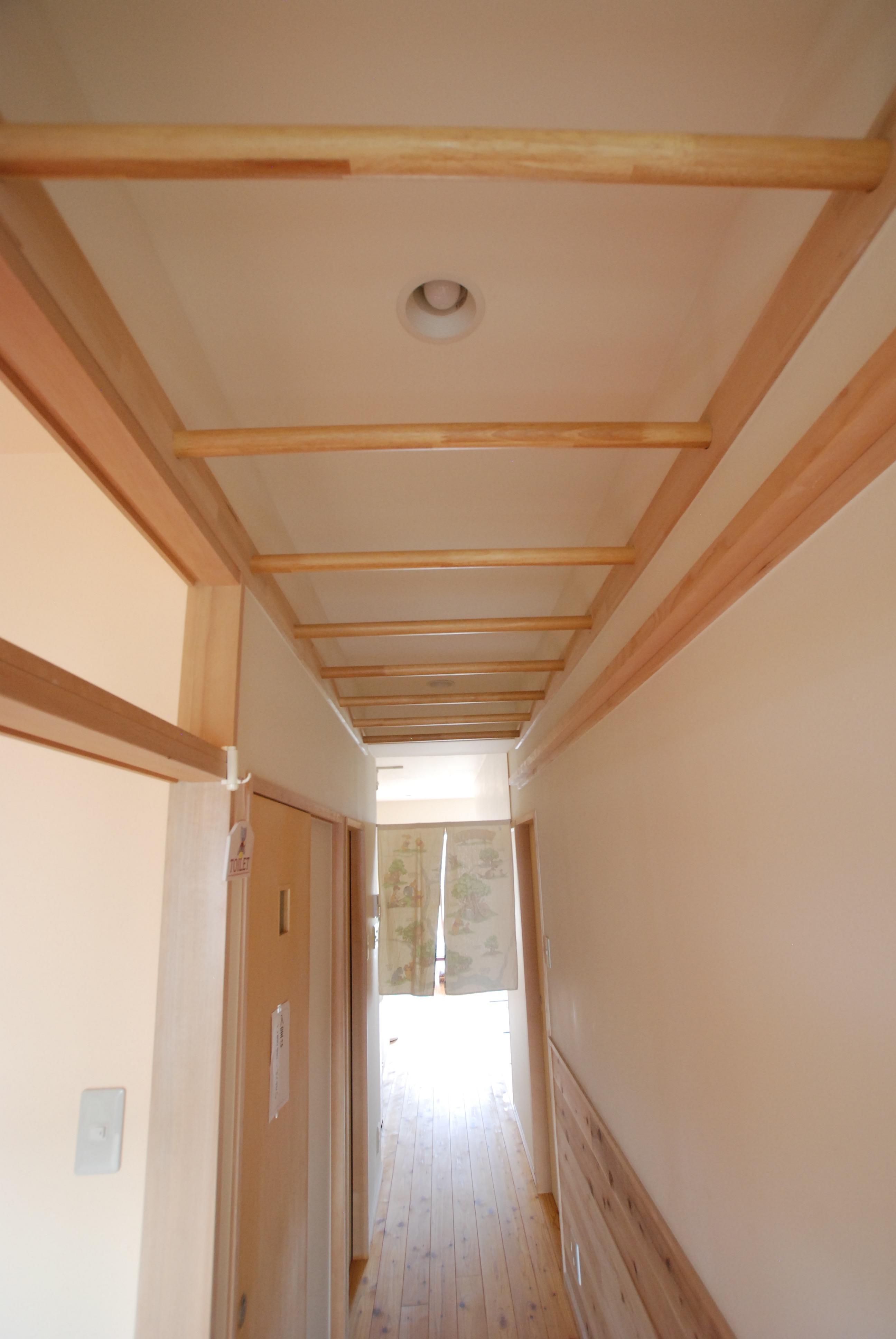 肋木とクリフハンガーで鍛える廊下