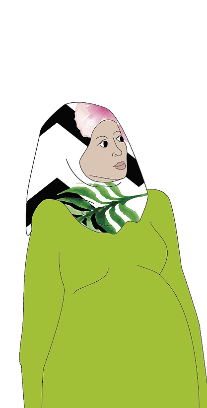 woman with headscarf image Birth_&_Wellb