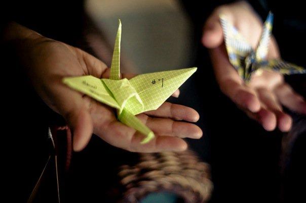 origami cranes favors