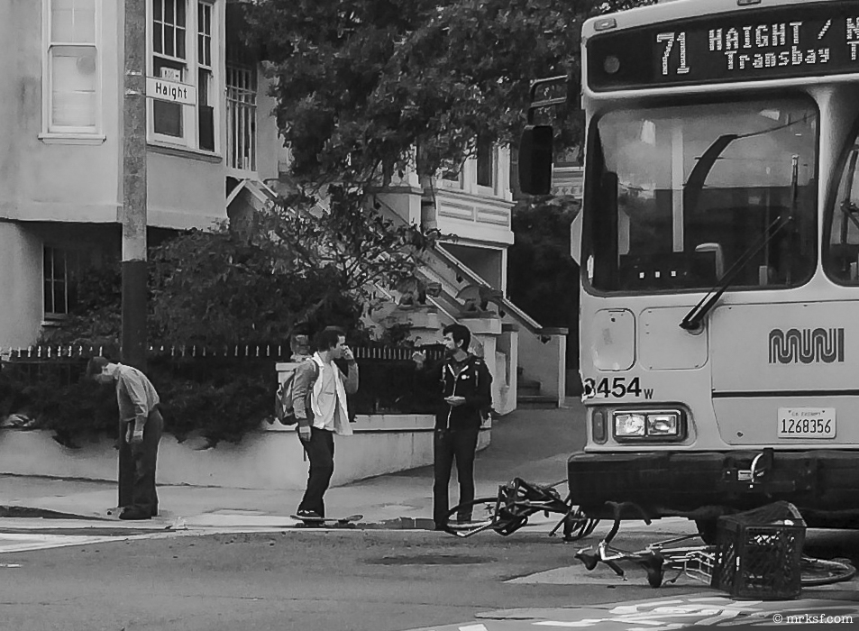 Accident on Haight st. SF