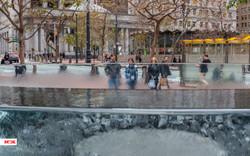 Street & Fountain