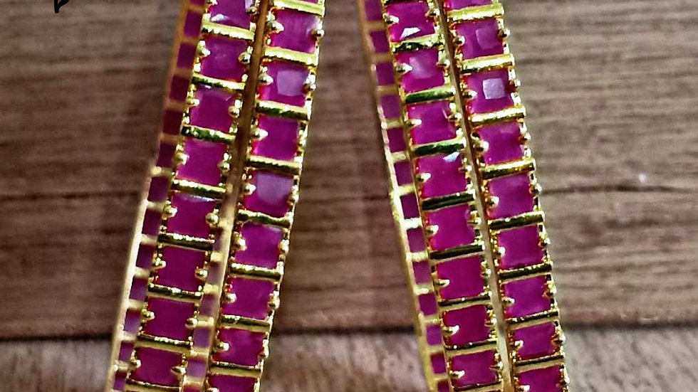 High quality CZ gold plated bangles.