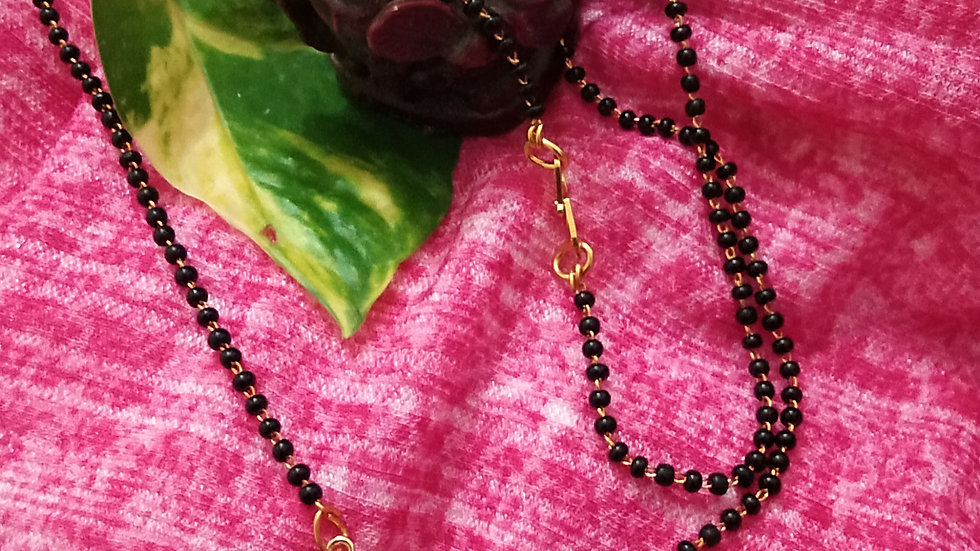 Simple single layered mangalsutra daily wear chain