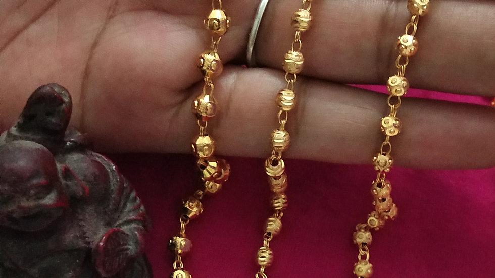 Gold balls chain price per piece