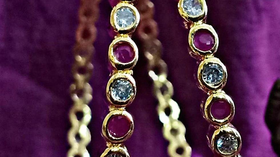 High quality Ruby stone bangles.