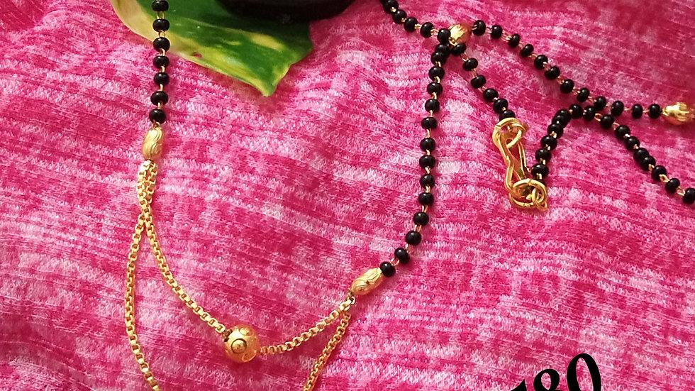 "Beautiful mangalsutra 18"" with double layered pendant"