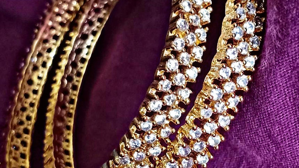 High quality CZ bangles.