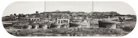 Kartarpur to Dera Baba Nanak, 15 x 60, graphite and wash on paper.