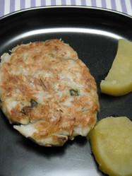 満腹感♪里芋とツナのカレーバーグ