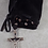 Thumbnail: Black Monk Rosary Pouch - Black Suede