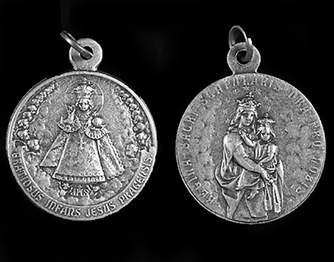 Infant of Prague / Our Lady of Mt. Carmel Medal (Nickel Silver)