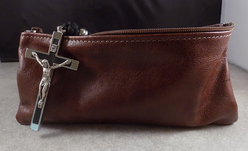 Long Pouch - Distressed Dark Leather