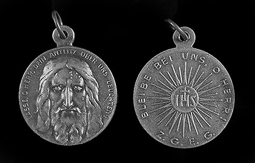 Holy Face / IHS Medal (Nickel Silver)