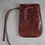 Thumbnail: Black Monk Rosary Pouch - Distressed Brown Leather