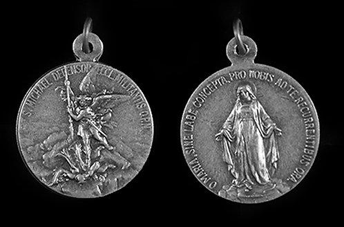 St. Michael / Miraculous Medal (Nickel Silver)