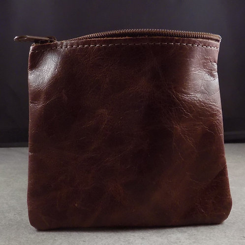Pocket Pouch - Distressed Dark Leather