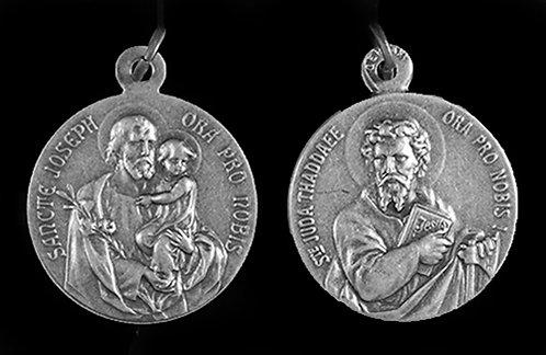 St.Joseph / St. Jude Medal (Nickel Silver)