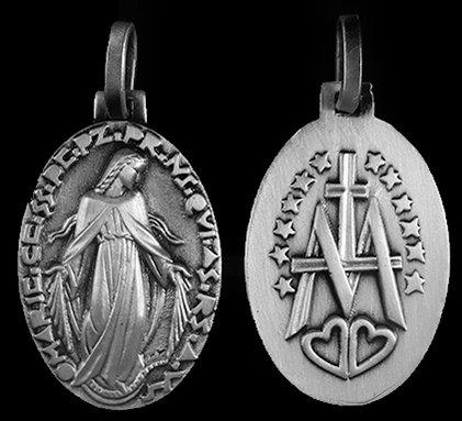 "Miraculous Medal - 1 3/8"" - 35mm"