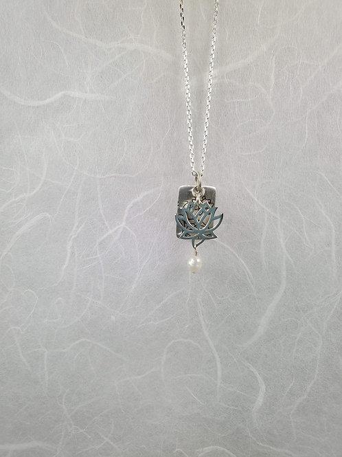 Small Lotus Design Necklace