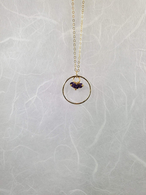 Amethyst Trio Necklace