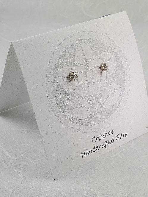 Cubic Zirconia Post Earrings