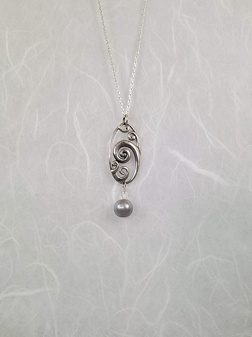 Oval Wave Necklace