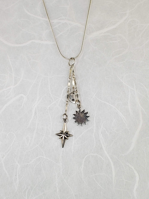 Sun, Moon star Necklace