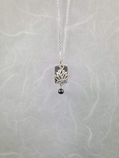 Small Lotus Design Necklace