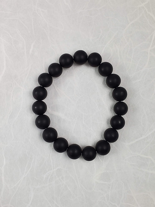Black Onyx Stretchy Bracelet