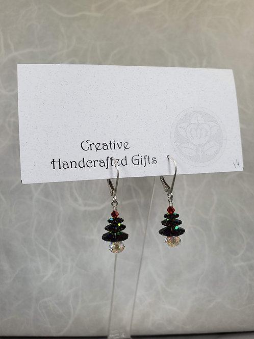 Small Christmas Tree Earrings