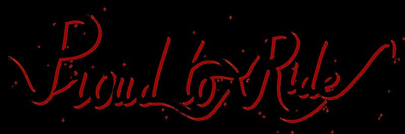 Logo Typo Proud To Ride