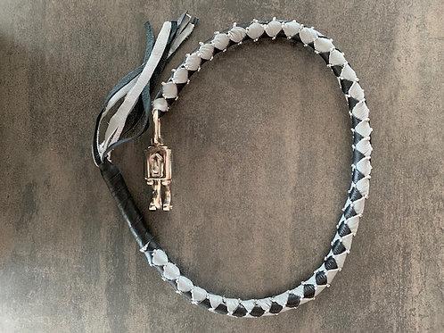 Whips Gris & Noir avec Perles
