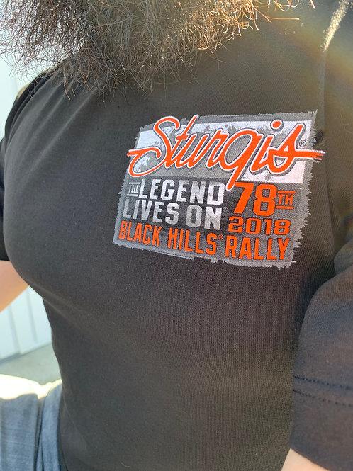 "T-shirt Sturgis 2018 ""Legend Lives On"""
