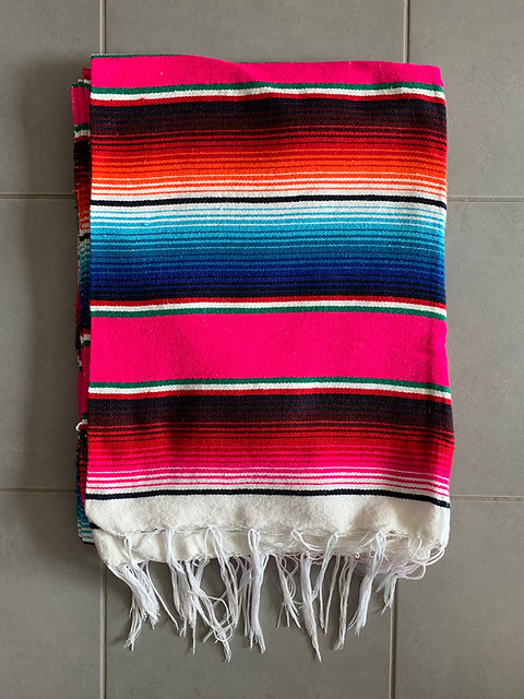 Couverture Mexicaine Sarape Multicolore