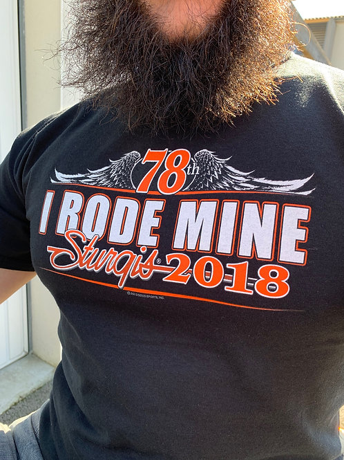 "T-shirt Sturgis 2018 ""I Rode Mine"""