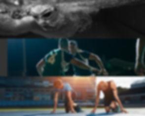 Black White Blue Swimming Sports Photo C