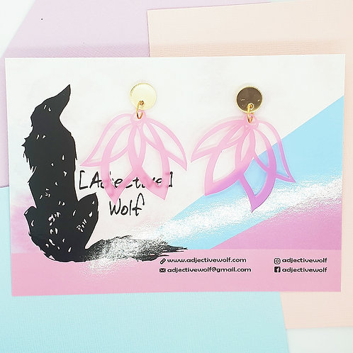 Pink 'Floating Lily' Dangles
