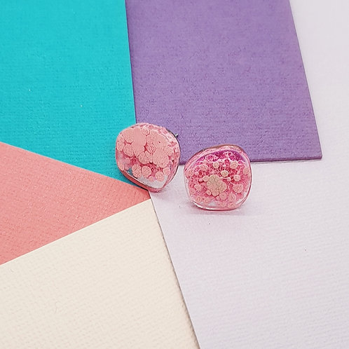 Ink Play Pink Studs