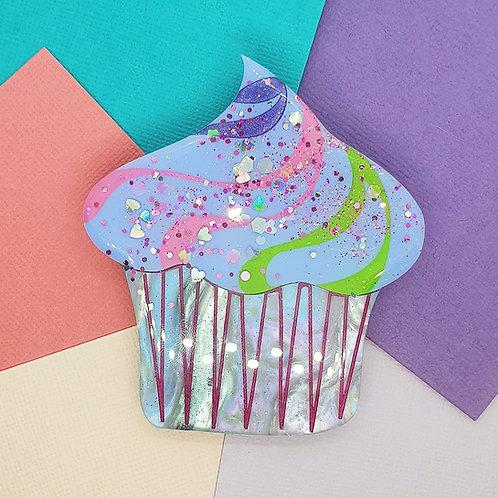 Oversized Cupcake Brooch