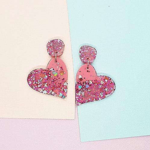 Fairy Floss Valentine Large Heart Dangles #1