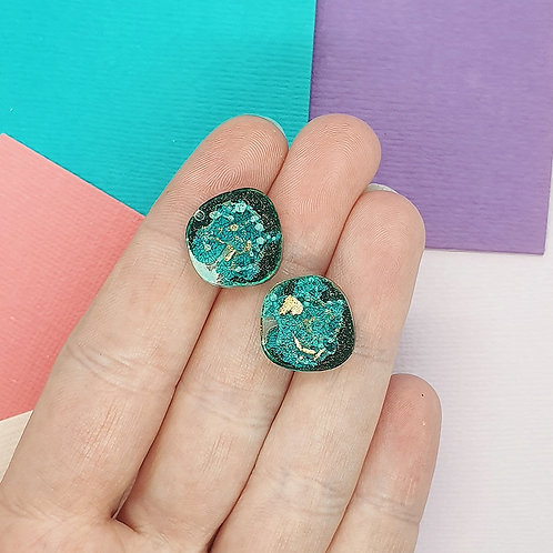 Ink Play Green Studs