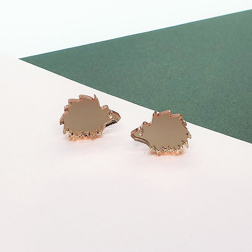 'Happy Hedgehog' Studs