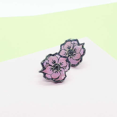 'Wild Rose' Statement Studs