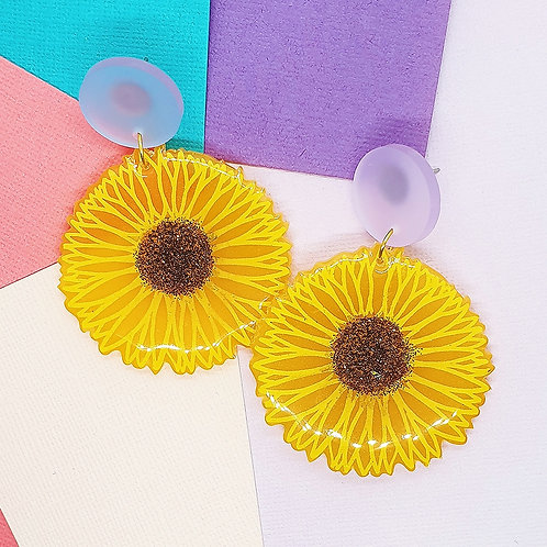 'Sunflower' Statement Dangles
